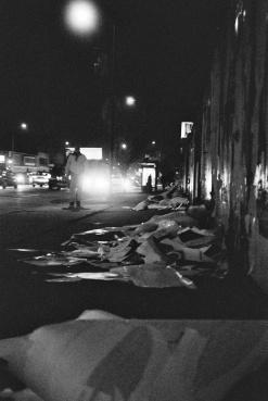 B&W Highland LA Film Photo