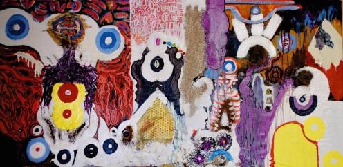 Mixed Media Abstract Art Painting