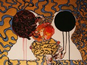 """Hueman"" Mixed Media Painting"